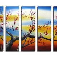 アートパネル 『梅の木XI』 25x80cm x 5枚組 梅
