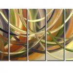 アートパネル 『流線Ⅶ』 30x90cm x 5枚組