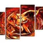 アートパネル 『肉欲』 30x65cm他、計4枚組