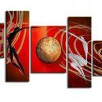 アートパネル 『螺旋Ⅱ』 20x60cm x 2枚他、計5枚組