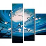 アートパネル 『夜空の花』 25x80cm他、計4枚組