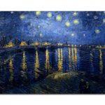 アートパネル ゴッホ『ローヌ川の星月夜(ビッグサイズ)』 100x150cm x 1枚 模写 大型 お店のディスプレイ