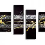 アートパネル 『黄金と黒Ⅲ』 40x60cm他、計4枚組